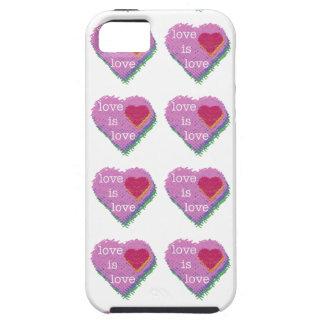 O amor é SE do iPhone do coração do amor + capa de