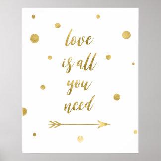 O amor é tudo que você precisa o poster dos pontos
