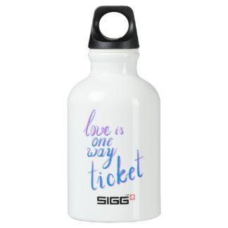 O amor é um bilhete da maneira garrafa d'água