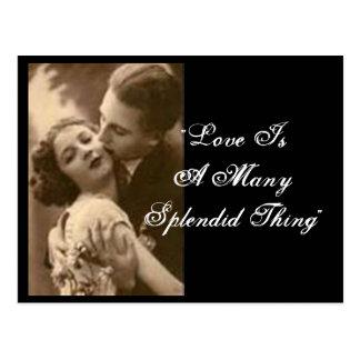 """O """"amor é uns muitos cartão da coisa esplêndida"""" cartão postal"""