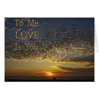 o amor é você, cartão do aniversário