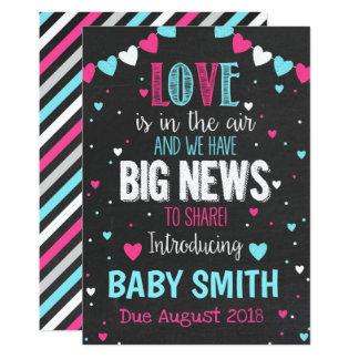 O amor está no anúncio da gravidez do ar