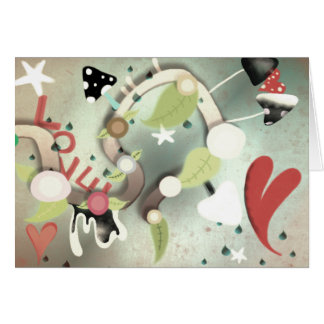 O amor está no cartão do coração do ar