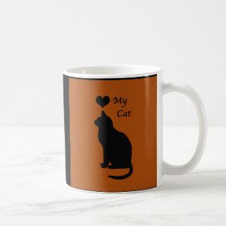 O amor minha caneca de café do gato