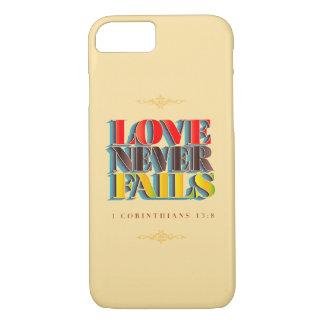 O amor nunca falha: capas de iphone