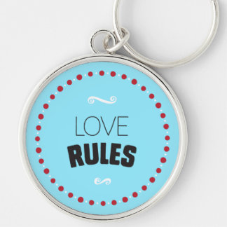 O amor ordena o chaveiro - azul