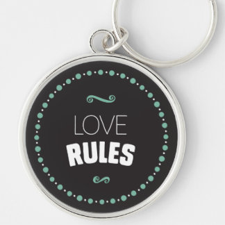 O amor ordena o chaveiro - preto
