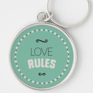 O amor ordena o chaveiro - verde
