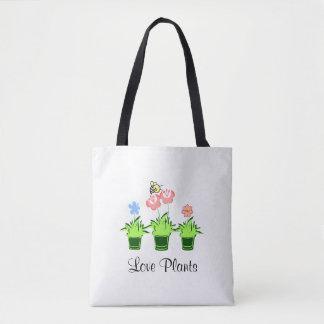 """O """"amor planta"""" de """"a sacola do amante natureza"""" bolsa tote"""