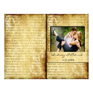 O amor rústico é programas pacientes da cerimónia flyer 21.59 x 27.94cm