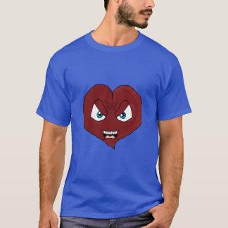 O amor suga a camisa do coração