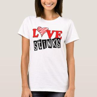 O amor tresanda a t-shirt dos Anti-Namorados Camiseta
