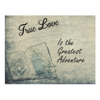 O amor verdadeiro do cartão é a grande aventura