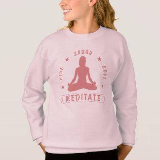 O amor vivo do riso Meditate texto fêmea (o rosa) Agasalho