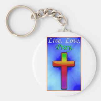 O amor vivo Pray (#1) Chaveiro