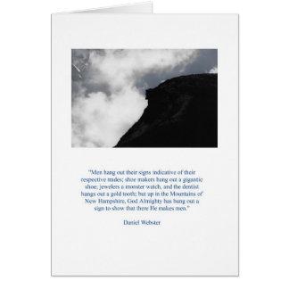 O ancião de Daniel Webster Cartão