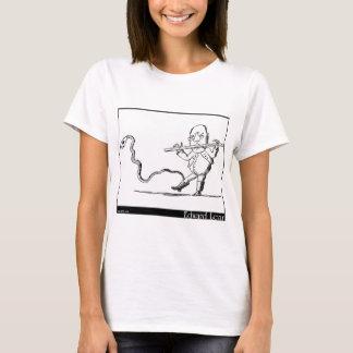 O ancião de Edward Lear com uma imagem da flauta Camiseta