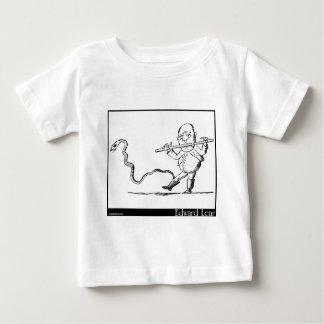 O ancião de Edward Lear com uma imagem da flauta Camiseta Para Bebê