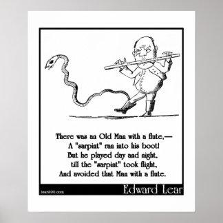 O ancião de Edward Lear com uma quintilha jocosa Poster