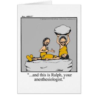 O Anesthesiologist engraçado obtem o cartão bom!