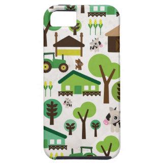 O animal de fazenda retro bonito caçoa o caso do capa tough para iPhone 5