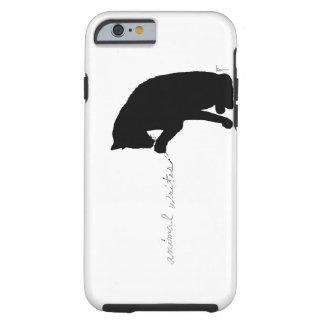 """o """"animal escreve """" capa tough para iPhone 6"""