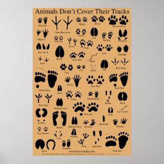 O animal segue o poster