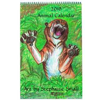 O animal selvagem do calendário animal Pets o