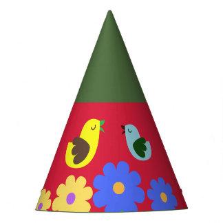 O animal Vermelho-Verde colorido figura o chapéu