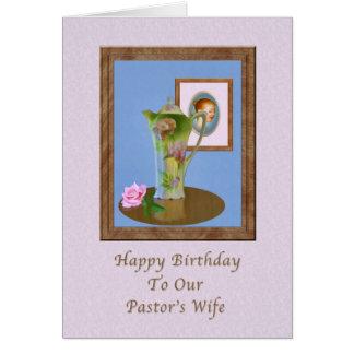 O aniversário, a esposa do pastor, ainda vida, cartão comemorativo