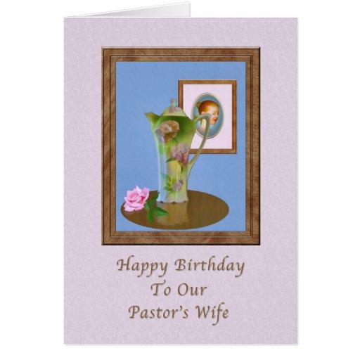 O aniversário, a esposa do pastor, ainda vida, jar cartao