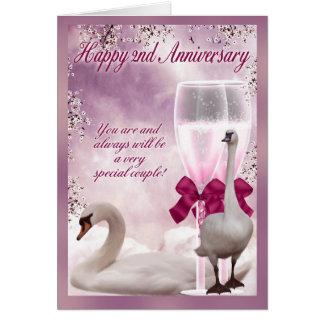 ò aniversário - aniversário do algodão cartão comemorativo