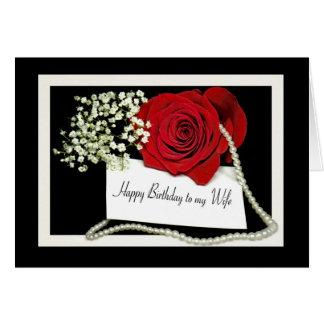 O aniversário aumentou para a esposa cartão comemorativo