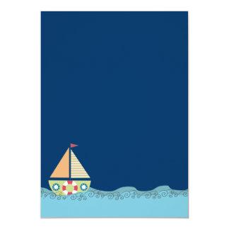 O aniversário ausente dos meninos do barco de convites personalizado