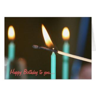 O aniversário Candles o cartão