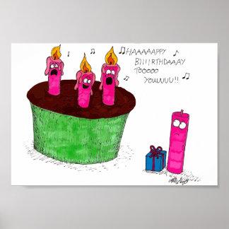 O aniversário Candles o poster