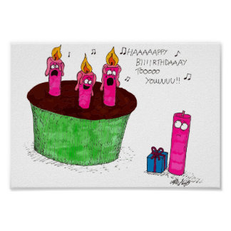 O aniversário Candles o poster Pôster
