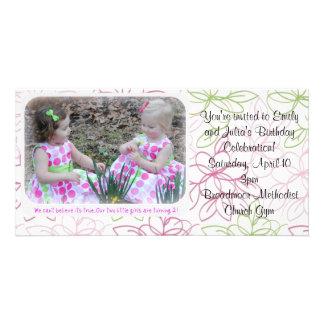 o aniversário convida cartão com foto