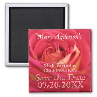 O aniversário cor-de-rosa do 90 comemora a imã
