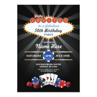 O aniversário da noite do casino de Las Vegas Convite 12.7 X 17.78cm