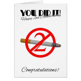 ò Aniversário da parada que fuma o cartão