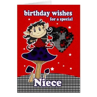 o aniversário da sobrinha deseja o cartão com EL g