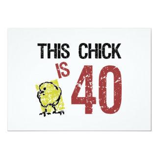 O aniversário de 40 anos engraçado das mulheres convites personalizados