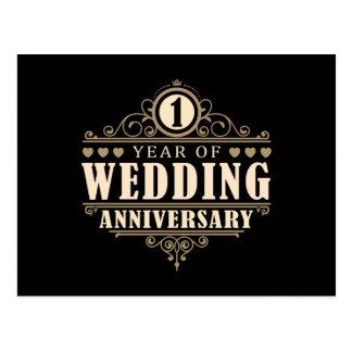 ø Aniversário de casamento Cartão Postal