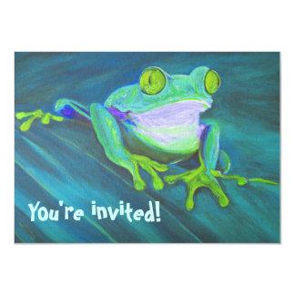 O aniversário de criança funky engraçado colorido convite 11.30 x 15.87cm