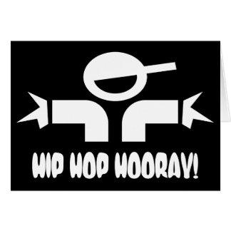 O aniversário de Hip Hop deseja o cartão