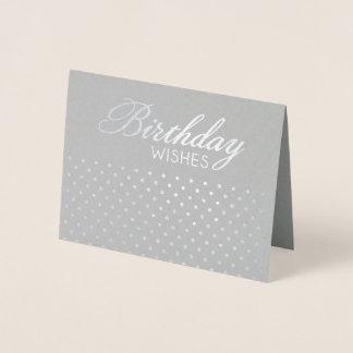 O aniversário de Polkadot da folha deseja o cartão