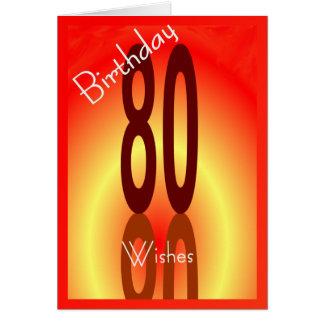 o aniversário do 80 deseja o cartão para qualquer