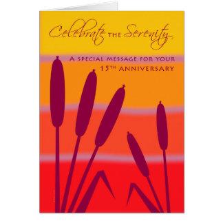 O aniversário do aniversário de 12 etapas 15 anos cartão comemorativo