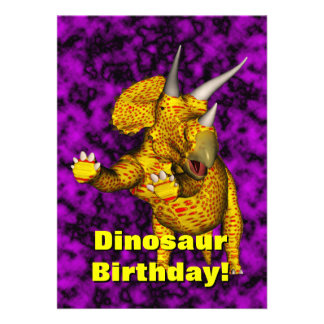 O aniversário do dinossauro convida convites personalizado